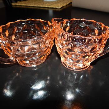 Jeannette sugar & creamer - Glassware