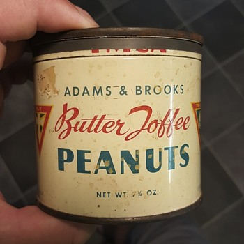 adams & brooks butter toffee peanuts can