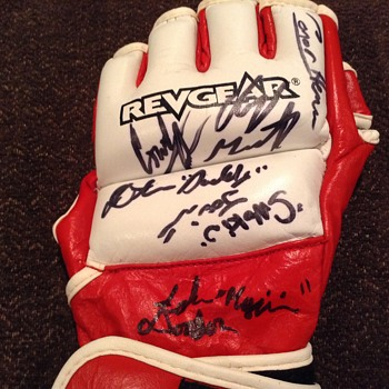 AUTOGRAPHED BOXING HALF FINGER GLOVE