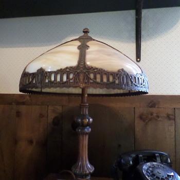Slag Glass Lamp