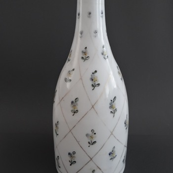 Milk glass bottle - Art Glass