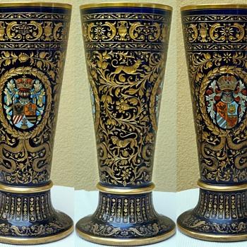 Huge Goblet in historism Style and renaissance manner. Second half 19Cent. - Art Glass