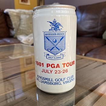 1981 PGA tour Bud can - Breweriana