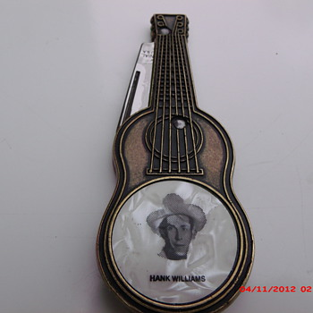 Hank Williams guitar shaped knife by Colonial. - Tools and Hardware