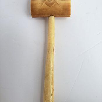 Bone Gavel with Masonic Symbol - Tools and Hardware