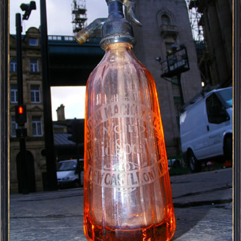MINIATURE SODA SYPHON NEWCASTLE ON TYNE - Bottles