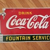 Single Sided Porcelain Coca Cola Spigot Sign