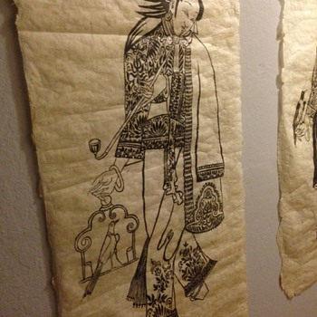 Asian Ink art on rice paper - Asian