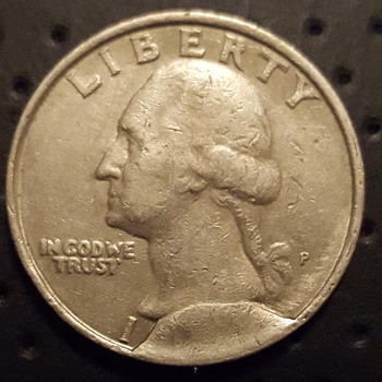 Washington Quarter Cud Error - Unknown Year - US Coins