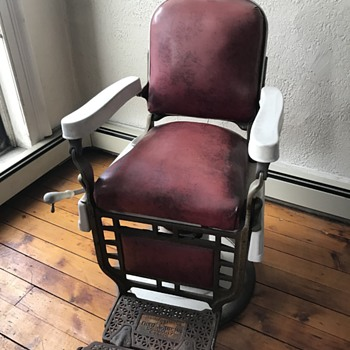 Theo A Koch 1920's Barber Chair - Furniture