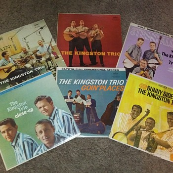 Six From 'The Kingston Trio'...On 33 1/3 RPM Vinyl - Records
