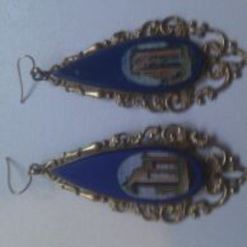 Micro mosaic earrings - Fine Jewelry