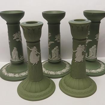 Wedgwood Jasperware Candlesticks - China and Dinnerware