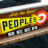 People's Brewing Co. lighted sign-Oshkosh,WI