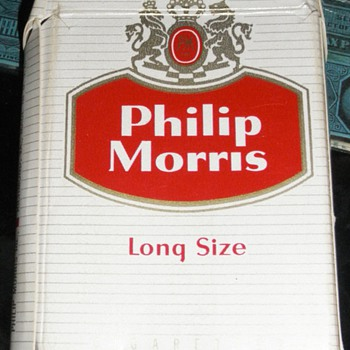 Philip Morris Cigarette Pack and various Tobacco Tax Stamps - Tobacciana