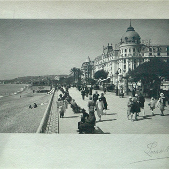 Signed Lucarelli. Hotel Negresco, Nice, France. Photo on paper. - Photographs
