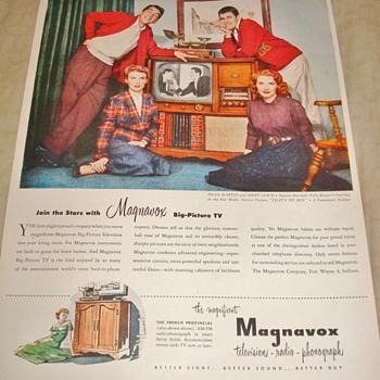 """Magnavox """"The Magnificent Magnavox"""" Magazine Ad - Advertising"""