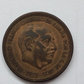 1953 Spanish coin - World Coins