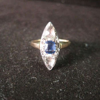 Georgian Diamond and Sapphire Ring  - Fine Jewelry