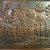 Hammered Copper Scene with Figures, Trees, Monkeys, Snake,...Beautiful!