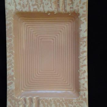 Large Pink Ceramic Ashtray - Tobacciana