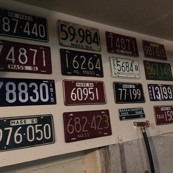 Mass License Plates - Classic Cars