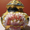 Cloisonne lidded miniature vases/jars (5)