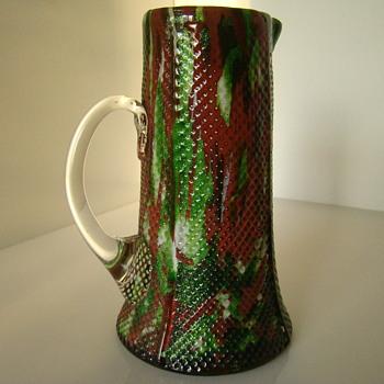 Green & Oxblood but Welz? - Art Glass