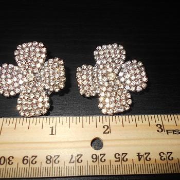 Kirks Folly Rhinestone clip earrings