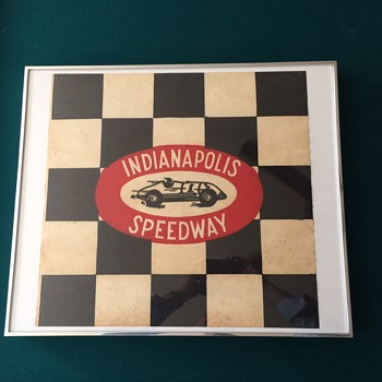 Indianapolis Speedway souvenir flag  - Advertising