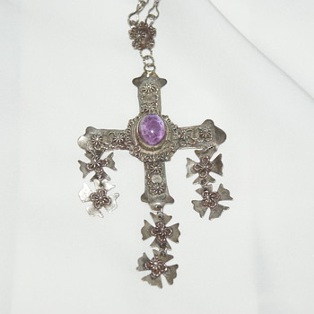Vintage Mexican Yalalag Cross - Fine Jewelry