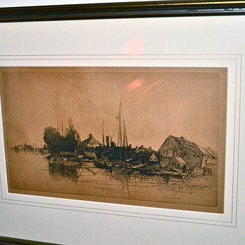 Stephen Parrish Etchings [Maxfield's father]