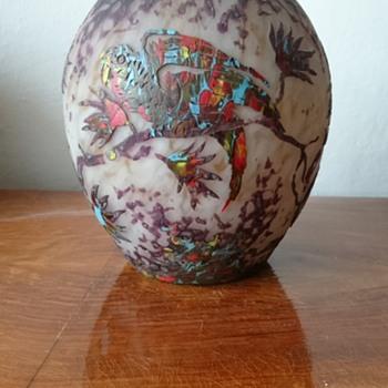 Layered glass vase - Art Glass