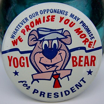 Yogi Bear For President 1964 Campaign - Medals Pins and Badges