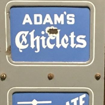 Porcelain gum sign  Adams/dentyne - Advertising