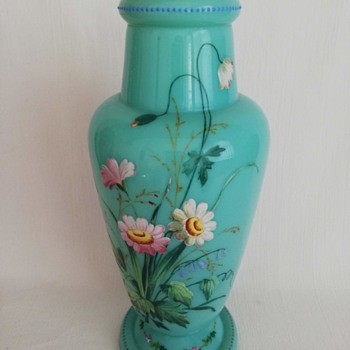 Enamelled Harrach Vase - Art Glass