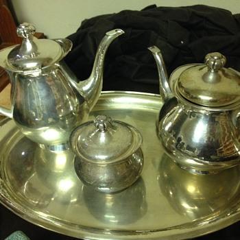 German Coffee / Tea Service - Silver