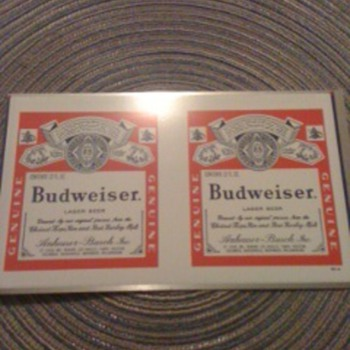 Budweser beer can blank - Breweriana