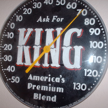 KING THERMOMETER - Signs