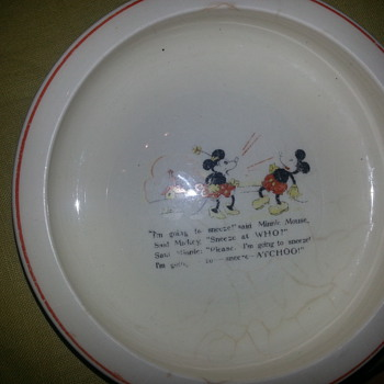 Disney Mickey & Minnie Mouse Nursery Plate