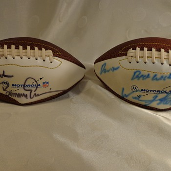 Two Signed NFL Footballs