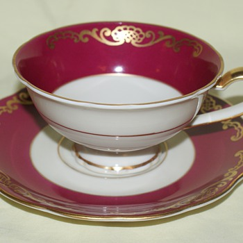 Cup and Saucer - Royal Bayreuth, Germany, US Zone - China and Dinnerware