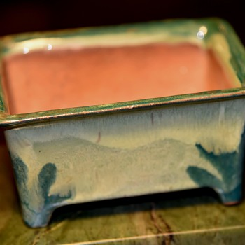 Cute Little Bonsai Pot with odd mark on the base - Pottery