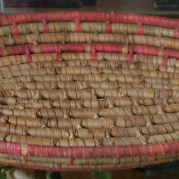 found an antique basket at another sale - Furniture