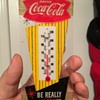 1960's Coca-Cola Fishtail Mini Thermometer