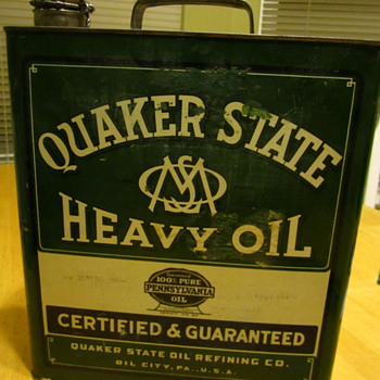 Quaker State Gallon Can - Petroliana