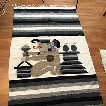 Wool tribal ethnic blanket - Folk Art