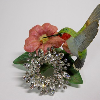 Sherman Flower Brooch, 1960 or early - Costume Jewelry