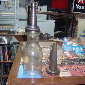 glass oil  quart   jar - Petroliana