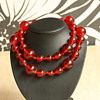 Red lucite necklaces